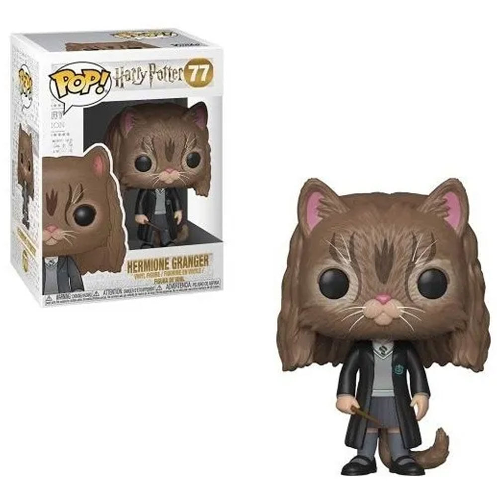 Figura Colecionável - Funko POP - Harry Potter - Hermione Granger Gato - Funko