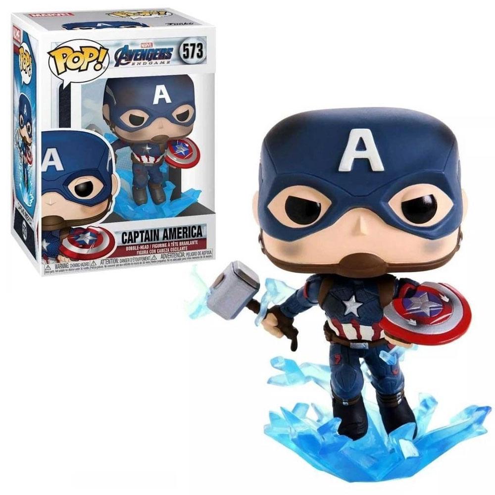 Figura Colecionável - Funko POP - Disney - Marvel Avengers Endgame - Capitão América - Funko