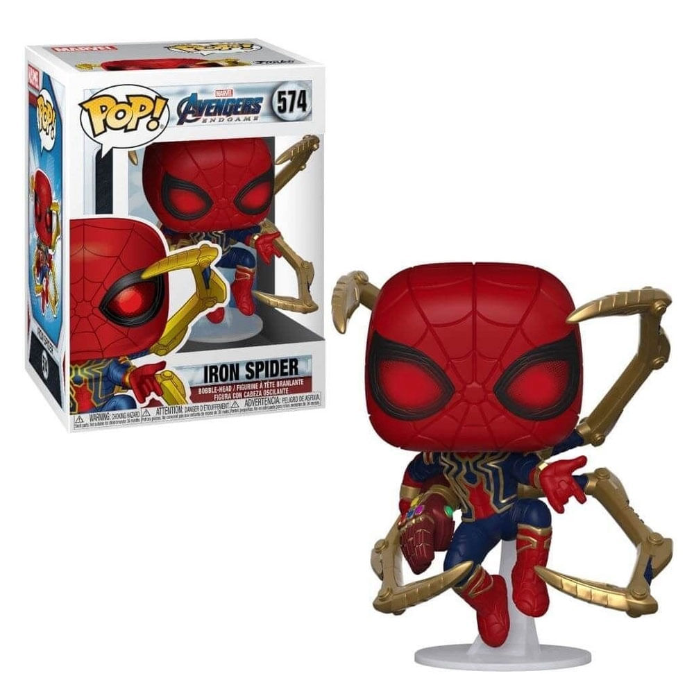 Figura Colecionável - Funko POP - Disney - Marvel Avengers Endgame - Iron-Spider - Funko