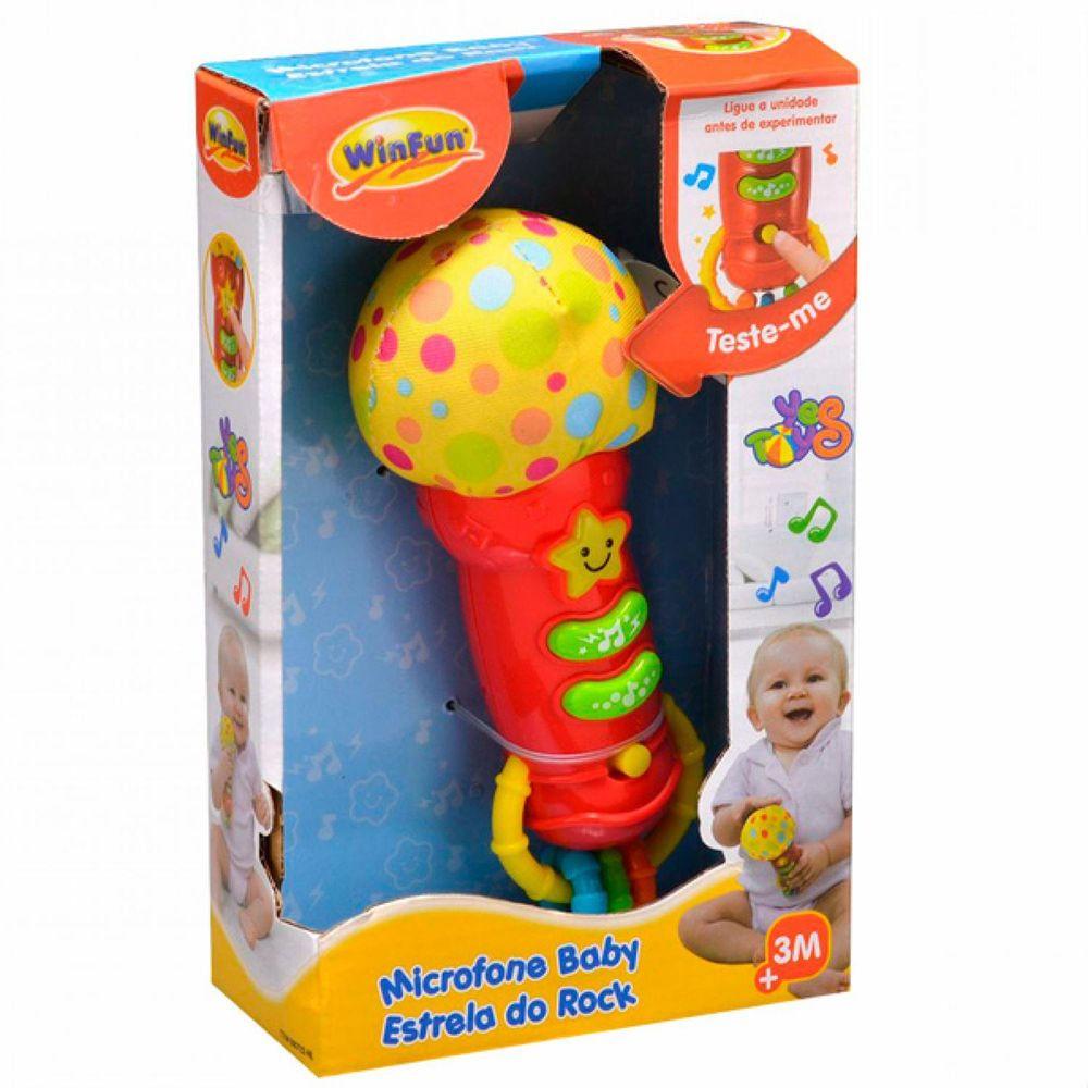Microfone Baby Estrela Do Rock