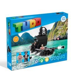 Blocos-de-Montar---Navio-Pirata---156-Pecas---TUDO-Acqua-0
