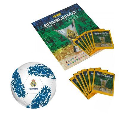 Kit-Album---Campeonato-Brasileiro-com-12-Envelopes-e-Mini-Bola-de-Futebol---Real-Madrid