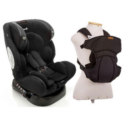 Kit-Cadeira-para-Auto---De-0-a-36-Kg---Multifix---Black-e-Canguru---I-Love-Travel---Black---Infanti