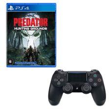 Kit-Controle-para-PS4---DualShock-Jet---Preto---Sony-e-Jogo---Predator---Hunting-Grounds---Sony