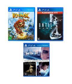 Kit-de-Jogos-PS4---Knack-2-Until-Dawn-e-Quantic-Dream-Collection---Sony