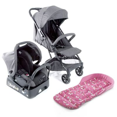 Kit-Travel-System---Skill---Grey-Denim-e-Almofada---SafeComfort---Unicornio---Pink---Safety-1St