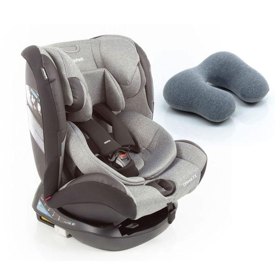 Kit-de-Cadeira-Para-Auto---0-a-36-Kg---Ottima-FX---Grey-Brave-e-Almofada-para-Pescoco-By-FOM---Infanti