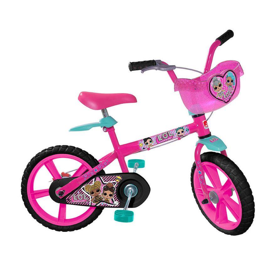 Bicicleta-Aro-14---Lol---Rosa---Bandeirante_Frente