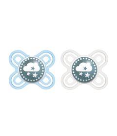 Conjunto-com-2-Chupetas---Perfect-Start---Bico-de-Silicone-SkinSoft---0-a-2-Meses---Azul-e-Branco---MAM_Frente
