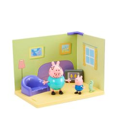 Playset---Cenario-da-Peppa-Pig---Papai-Pig-e-George---Sunny-0