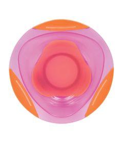 Prato-Bowl---Rosa-e-Laranja---BPA-Free---Buba_Frente