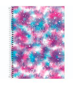 Caderno-Espiral---Capa-Dura-Universitario---Rosa-e-Azul---160-Folhas---Good-Vibes---Tilibra-0