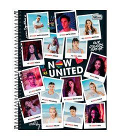 Caderno-Espiral---Capa-Dura-Universitario---Personagens---80-Folhas---Now-United---Tilibra-0