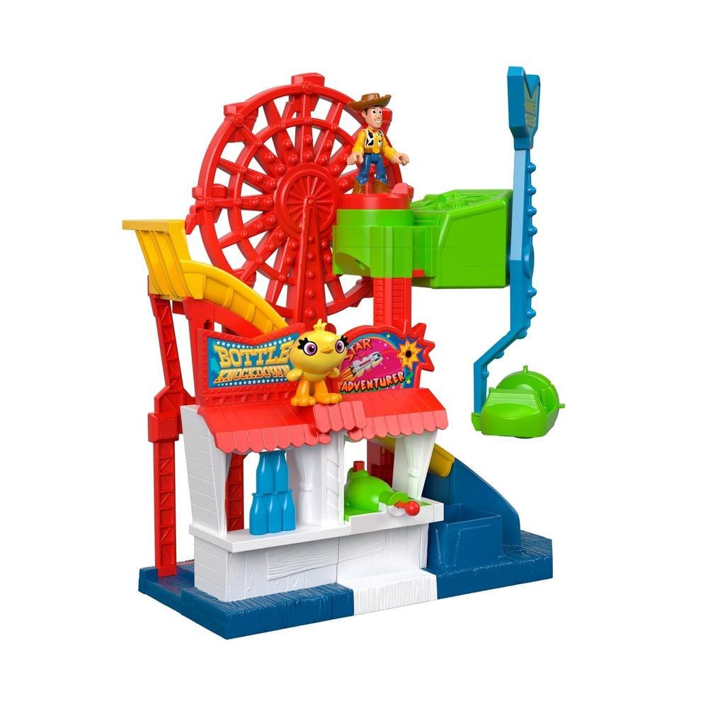 Playset e Mini Figura - 38Cm - Toy Story 4 - Parque Divertido - Imaginext