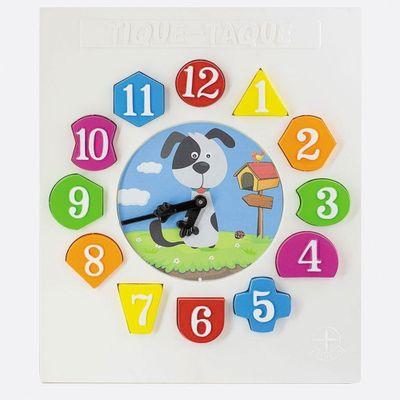 Relógio Tique Taque - Cachorrinho - Colorido - Estrela