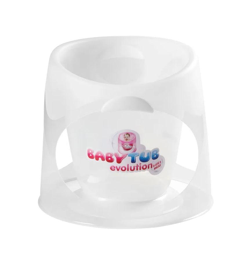 Banheira Babytub Evolution 0 a 8 Meses Transparente - Baby Tub