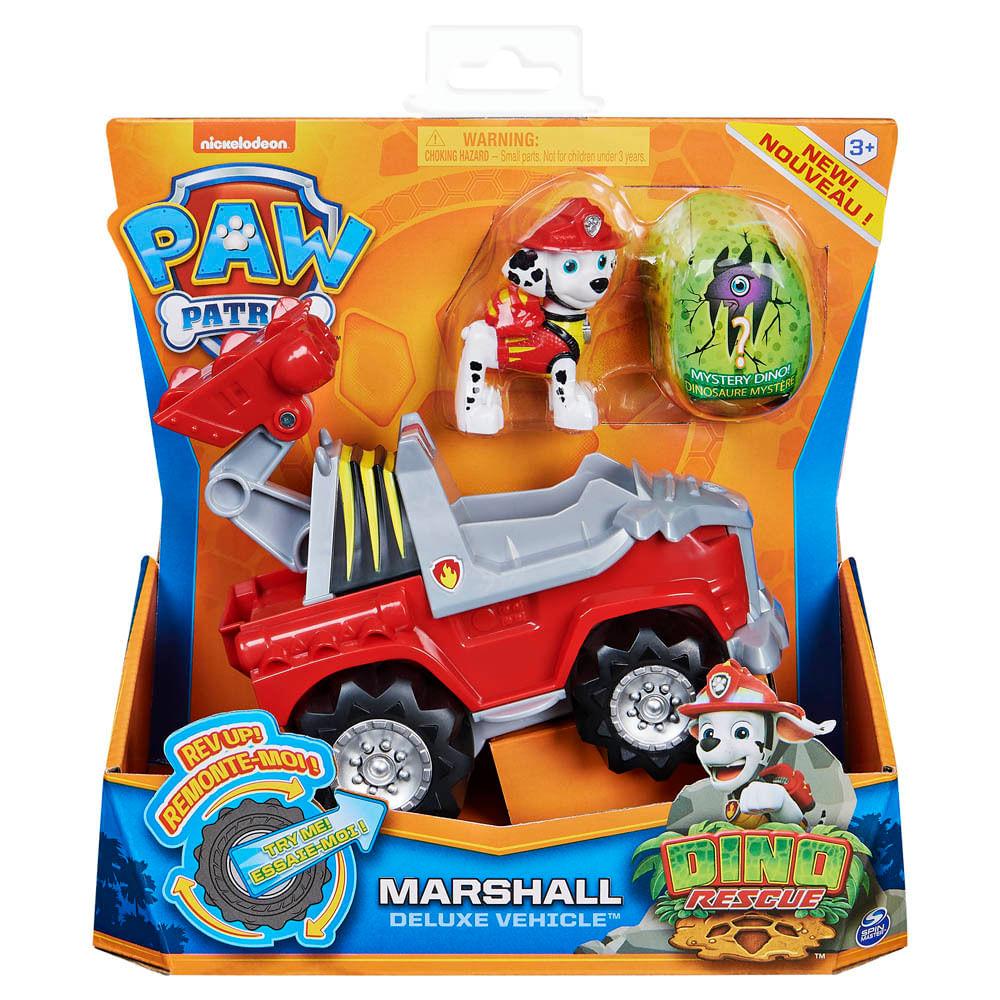 Veículo e Mini Figura - Patrulha Canina - Dino Rescue Deluxe - Marshal - Sunny