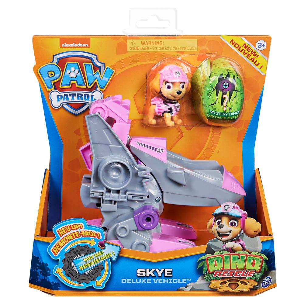 Veículo e Mini Figura - Patrulha Canina - Dino Rescue Deluxe - Skye - Sunny