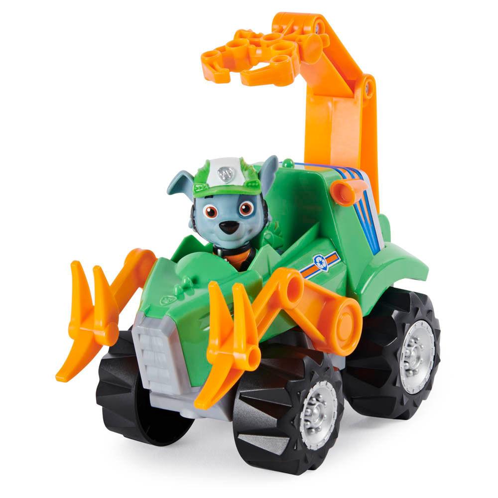 Veículo e Mini Figura - Patrulha Canina - Dino Rescue Deluxe - Rocky - Sunny