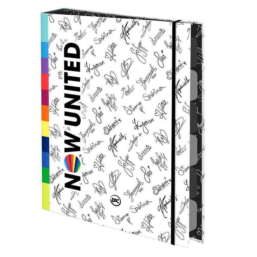 Kit-Escolar-com-Estojo-e-Caderno-Argolado---48-Folhas---Now-United---Branco---DAC