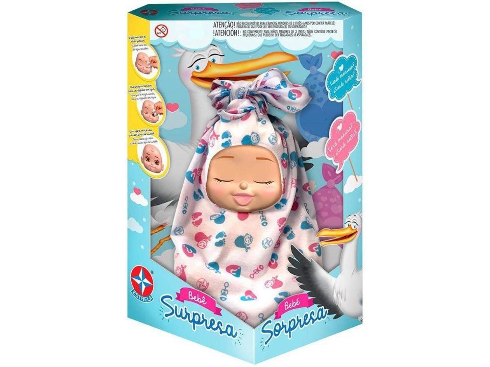 Boneca Infantil Bebê Surpresa 25cm - Estrela