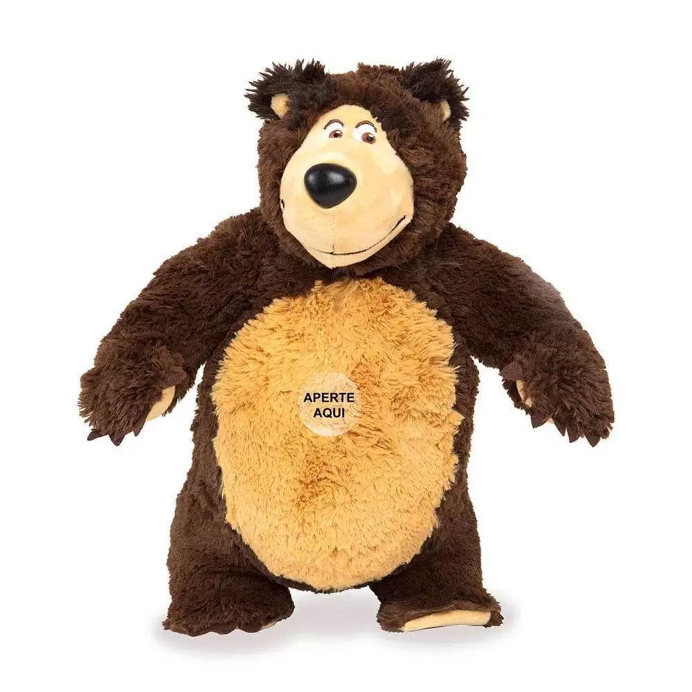 Pelúcia 40 Cm - Masha e o Urso - Urso com Sons - Estrela
