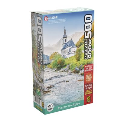 Quebra-Cabeca---Riacho-Nos-Alpes---500-Pecas---Grow-0