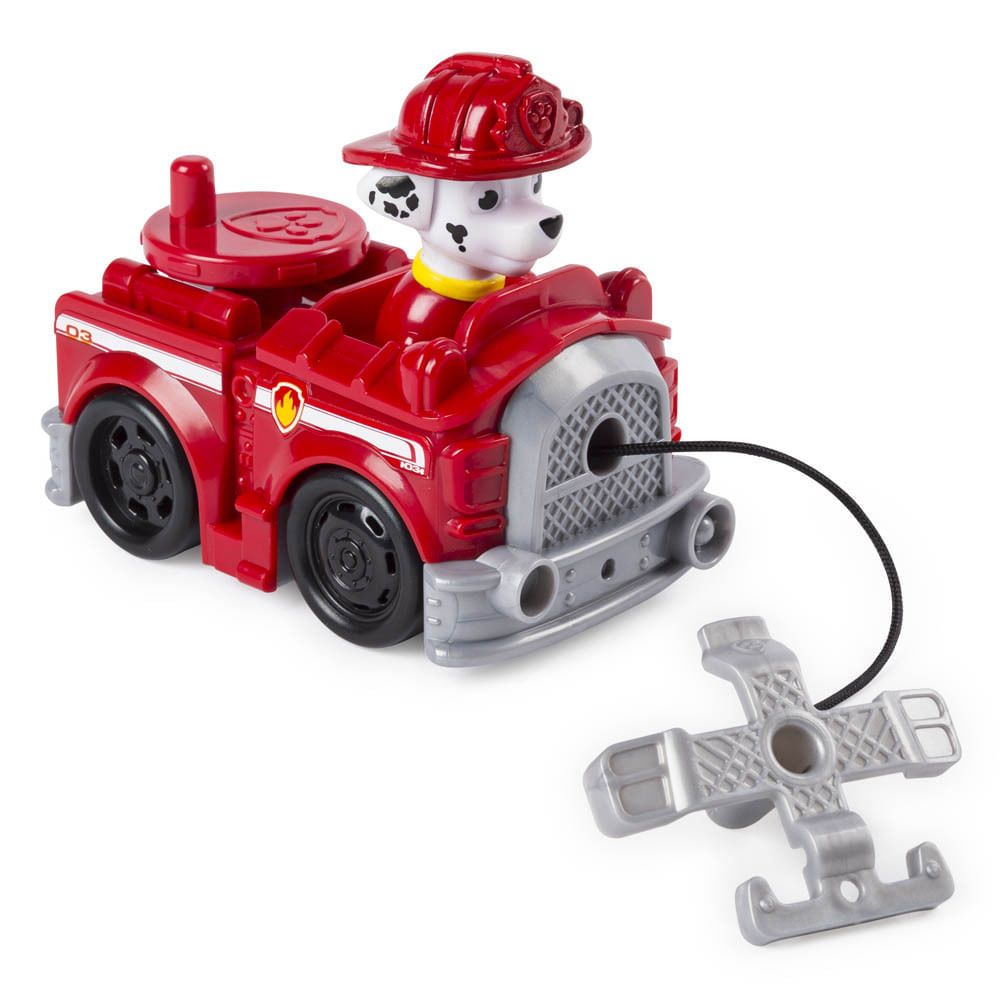 Mini Figura e Veículo - Rescue Racers - Patrulha Canina - Marshall - Sunny