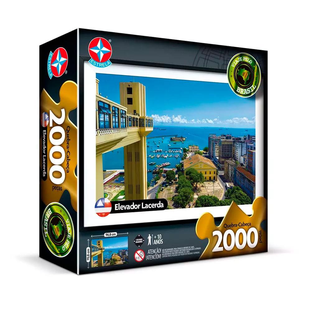 Quebra Cabeça Elevador Lacerda 2000 Peças - Estrela