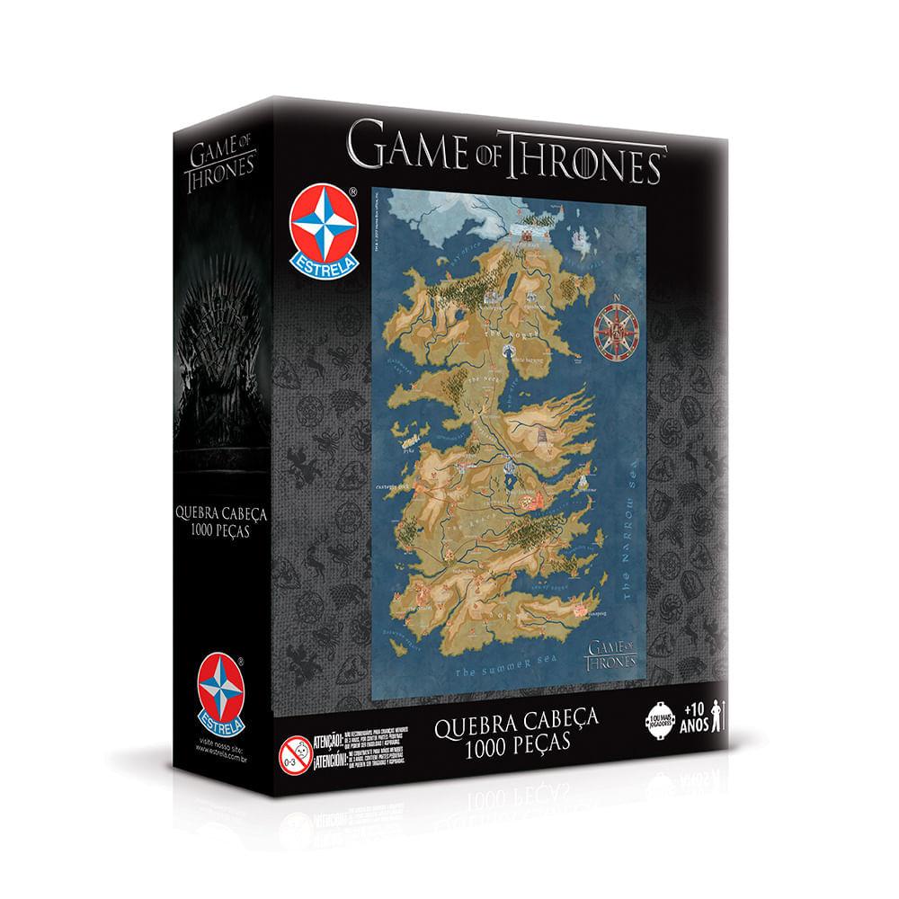 Quebra Cabeça Game of Thrones 1000 peças - Estrela