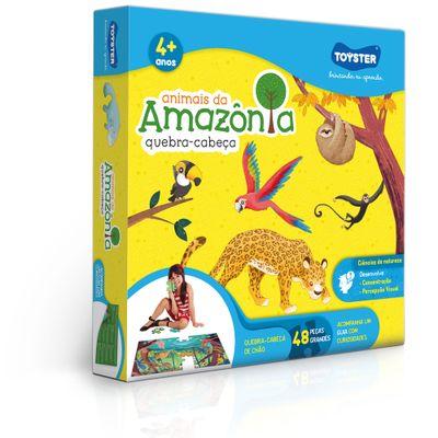 Quebra-Cabeca---Grandao---48-Pecas---Animais-da-Amazonia---Toyster-0