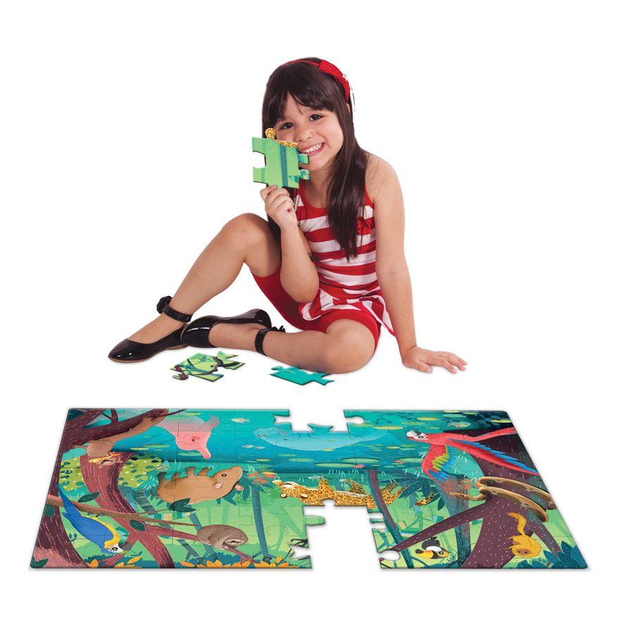 Quebra-Cabeca---Grandao---48-Pecas---Animais-da-Amazonia---Toyster-1