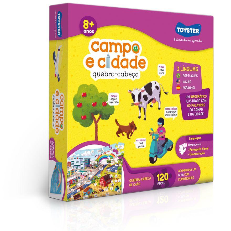 Quebra-Cabeca---120-Pecas---Grandao---Campo-e-Cidade--Trilingue----Toyster-0