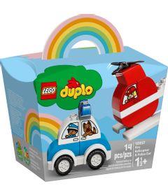 LEGO-Duplo---Helicoptero-dos-Bombeiros-e-Carro-da-Policia---10957-0